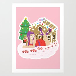 Gingerbread Village Art Print