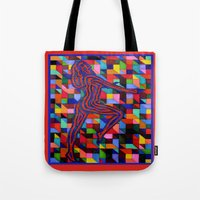 onward Tote Bags featuring Onward and Upward by Ana Lillith Bar