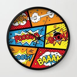 Kaboom Wall Clock