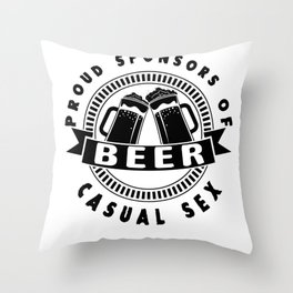 beer casual sex - I love beer Throw Pillow