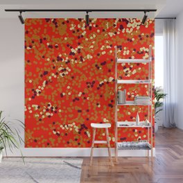 dots on red Wall Mural