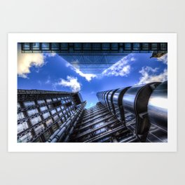 Lloyd's of London and the Cheesegrater Art Print