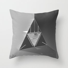 Light futurist. Throw Pillow