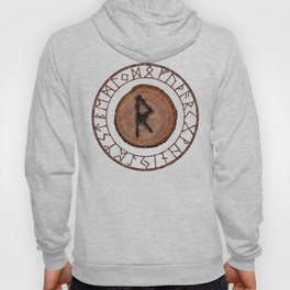Raidho Elder Futhark Rune Travel, journey, vacation, relocation, evolution, change of place Hoody