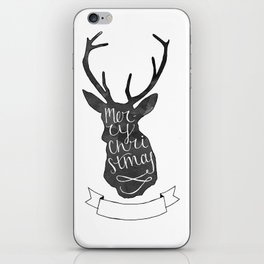Merry Christmas Deer (3) iPhone Skin