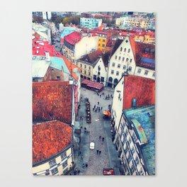 Tallinn art 6 #tallinn #city Canvas Print