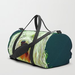 hairy havanese dog vector art Duffle Bag