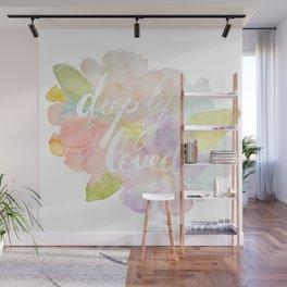 deeply loved watercolor Wall Mural