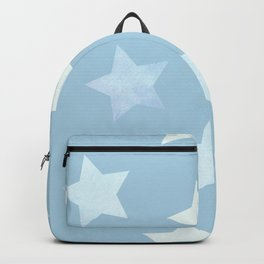 sweet pastel sky denim blue colors stars pattern Backpack