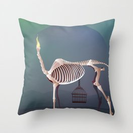 the flame and the grudge Throw Pillow