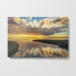 Sunset Reflections Weeks Bayou Metal Print