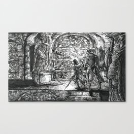 Inktober 2017: The Crypt Canvas Print