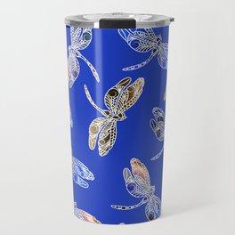 Dragonflies Blue Travel Mug