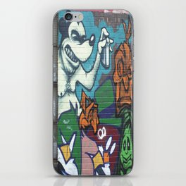 city alley graffitti art iPhone Skin