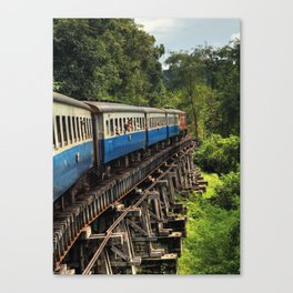 Train - Ayutthaya - Thailand Canvas Print