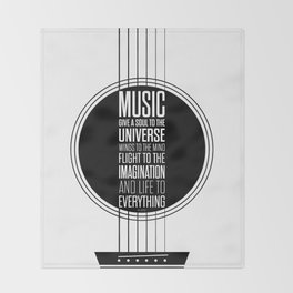 Lab No. 4 - Plato philosopher Inspirational Music Quotes  poster Throw Blanket
