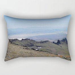 road trip, 2nd look, killer view, mountains, expanded view of same pic. Rectangular Pillow