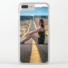 Adventure through the desert Clear iPhone Case