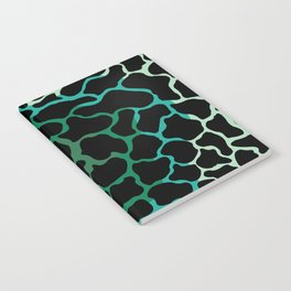 abstract shades of green Notebook