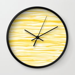 Milk and Honey Yellow Stripes Abstract Wall Clock