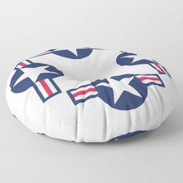 US Air-force plane roundel Floor Pillow