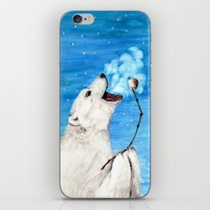 Polar Bear with Toasted Marshmallow iPhone Skin