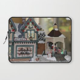 Antiques In Christmas Town Laptop Sleeve