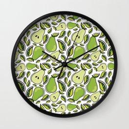 Pear pattern Wall Clock
