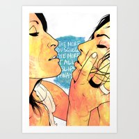 girls Art Prints featuring Girls by K▽nchʁLϟ