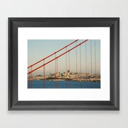 Golden San Gate Francisco Bridge Framed Art Print