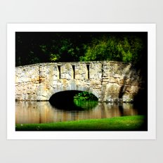 Bridge over Pond Art Print