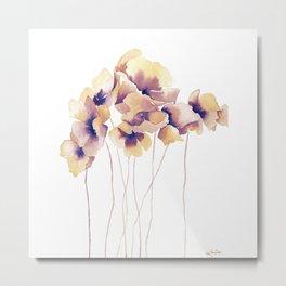 Violet Poppies Metal Print