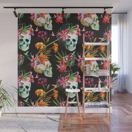 Hawaiian Skull Wall Mural