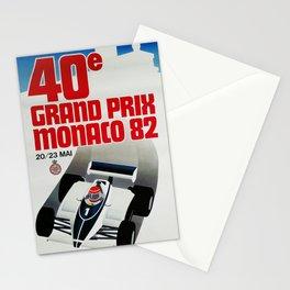Gran Prix de Monaco, 1982, original vintage poster Stationery Cards