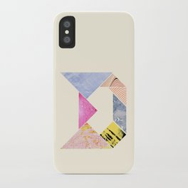 Tangram Alphabet - D iPhone Case