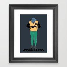 Letterman Framed Art Print