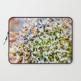 Diamond OG Kush Strain Top Shelf Indoor Hydro Trichomes Close Up View Laptop Sleeve