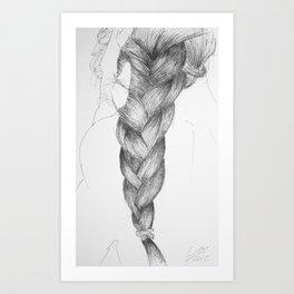 Hair four Art Print
