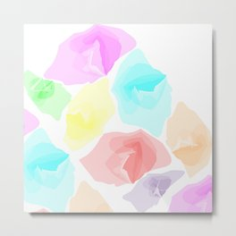 Colorful Aqua Metal Print