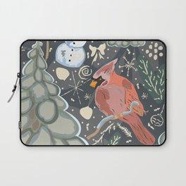 Snowman and Cardinal Laptop Sleeve