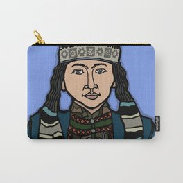 Mongolian Girl Carry-All Pouch