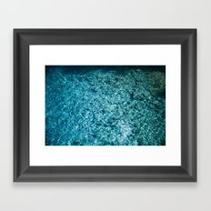 Blue Water Framed Art Print