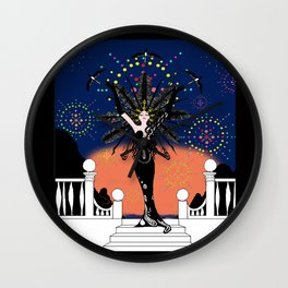 La Grande Vie Mardi Gras Wall Clock