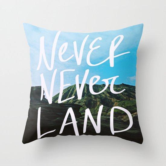 Never Never Land Throw Pillow