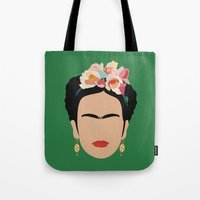 frida Tote Bags featuring frida by Live It Up