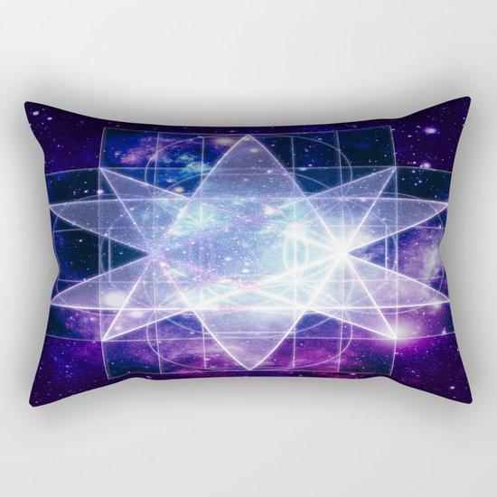 Purple Galaxy Sacred Geometry : Stellated Icoshadron Rectangular Pillow
