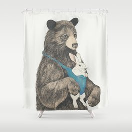 the bear au pair Shower Curtain