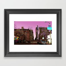 Light Falls in Strange Ways Framed Art Print