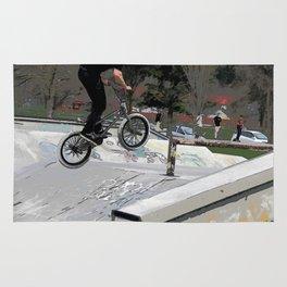 """Getting Air"" - BMX Rider Rug"