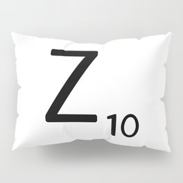 Letter Z - Custom Scrabble Letter Tile Art - Scrabble Z Initial Pillow Sham